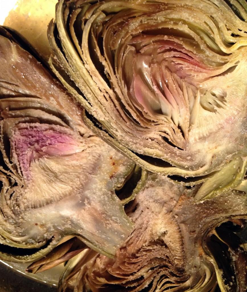 lemon infused artichokes