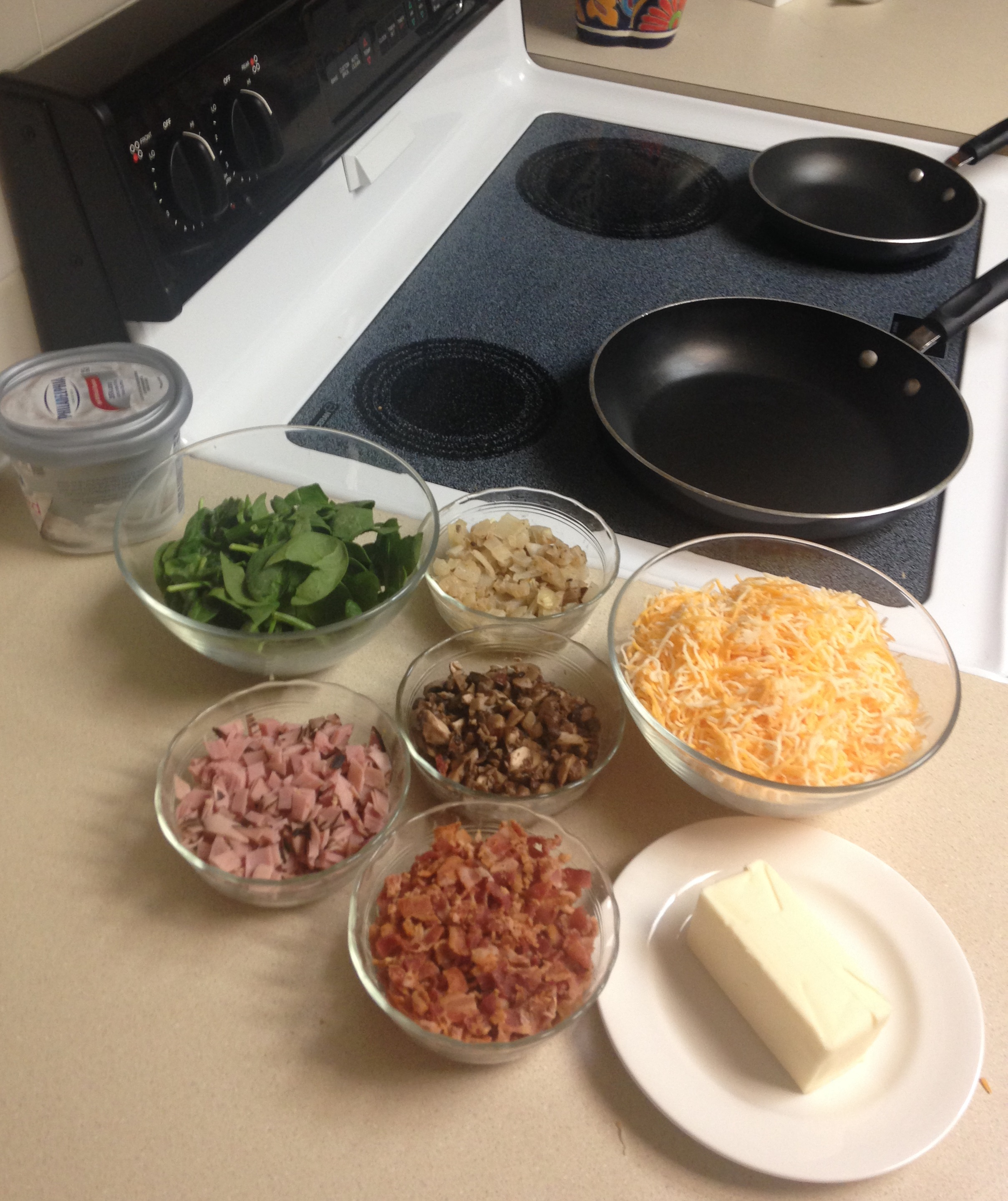 brunch omelet station